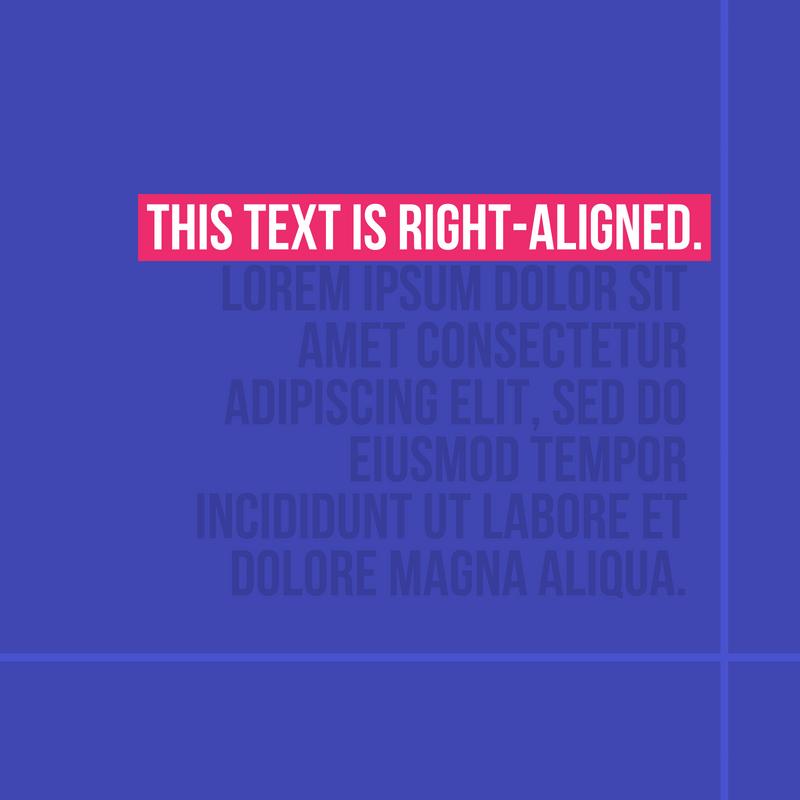 Right-Aligned.