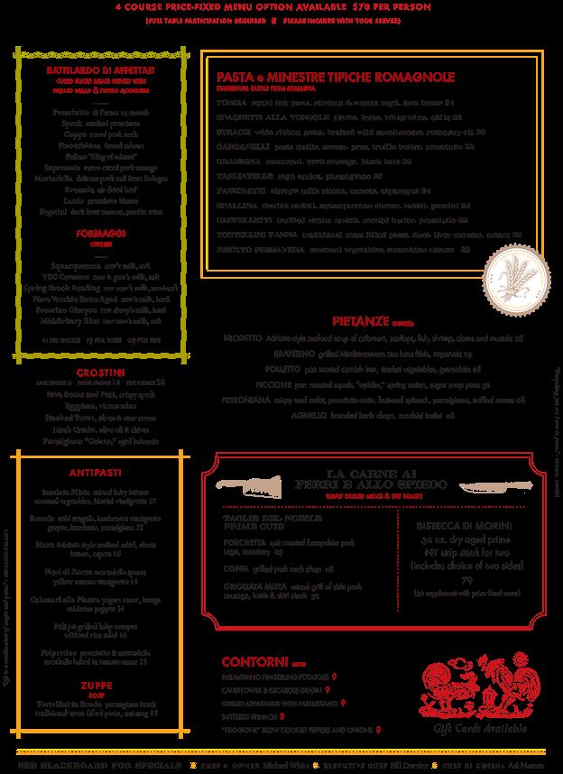 menu 6.