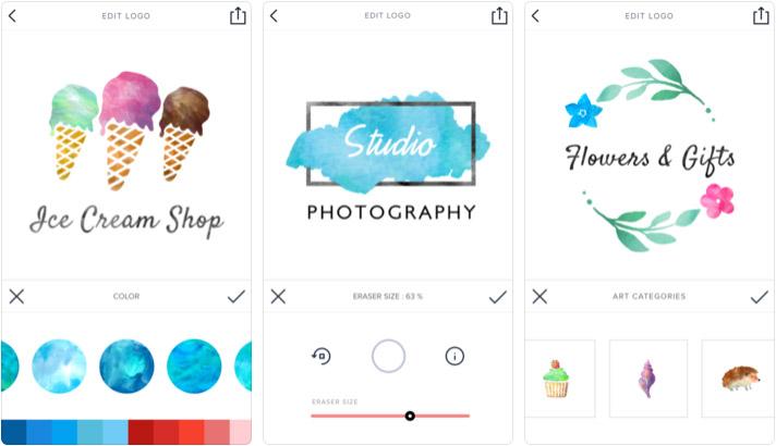 Watercolor-Logo-Maker-iPhone-and-iPad-App-Screenshot.