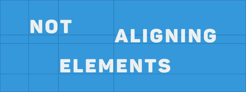 alignment.