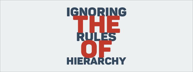 hierarchy.
