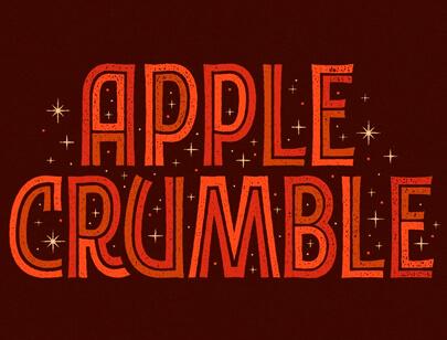 retro-designs-typography-Apple-Crumble.