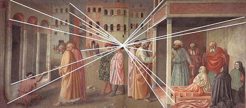 Masolino,_resurrezione_di_tabita_(schema_prospettiva)-R.
