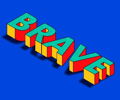 Be-Brave-series-1-creative-typography-design-example.