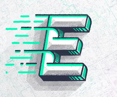 Typefight-E-creative-typography-design-example.