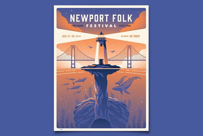 Newport-Folk-Festival-illustration-poster-example.
