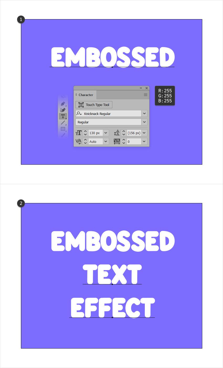EmbossedTextEffect2.