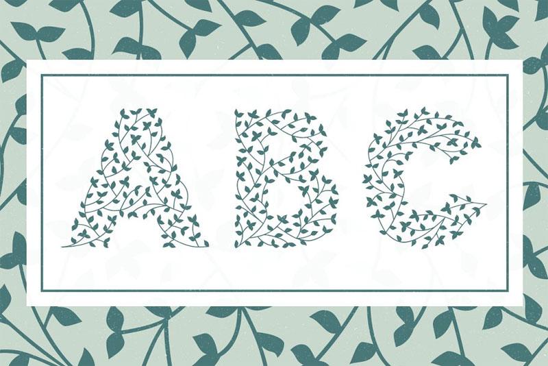 herbaceous-border-leaf-font.