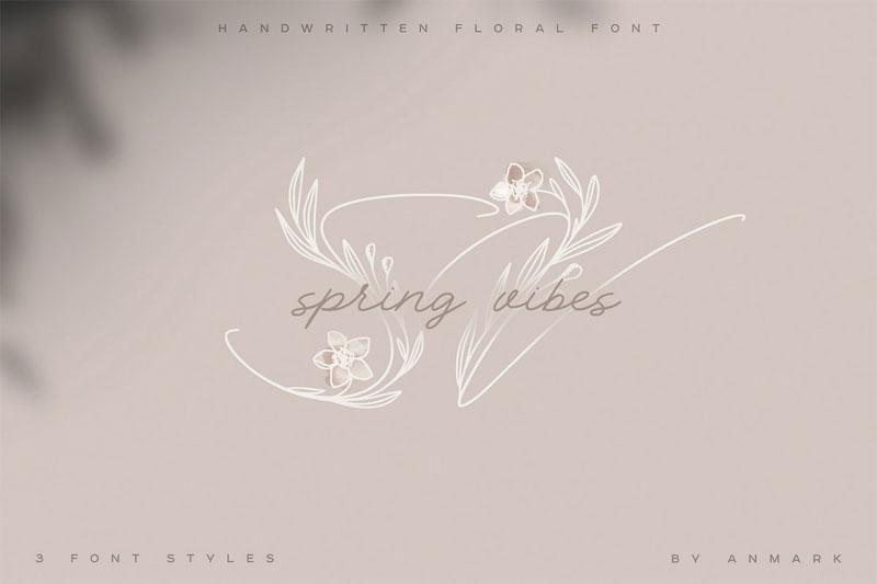 spring-vibes.-floral-leaf-font.