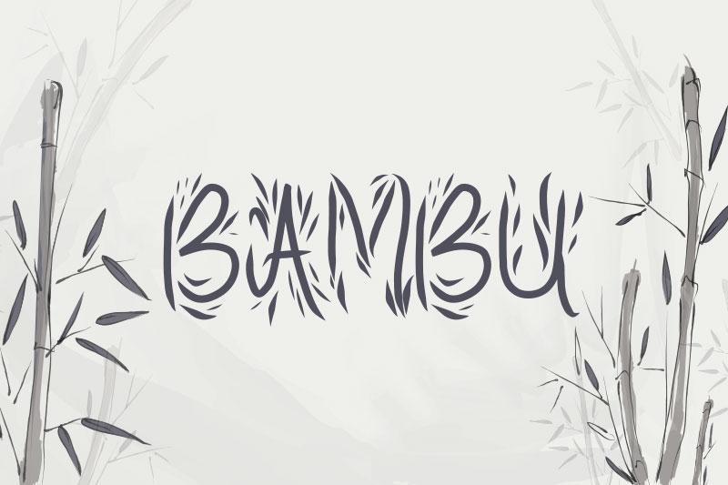 bambu-leaf-font.