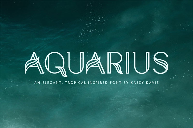 aquarius-a-tropical-leaf-font.